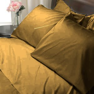 100%Egyptian Cotton Color  Browntile 1200TC Queen Solid Sheet Set