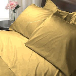 100%Egyptian Cotton Color  Butter 1200TC Queen Solid Sheet Set
