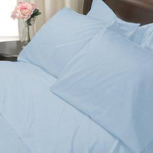 100%Egyptian Cotton Color  Sky Blue 1200TC Queen Solid Sheet Set