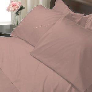 100%Egyptian Cotton Color  Fawn 1200TC Queen Solid Sheet Set