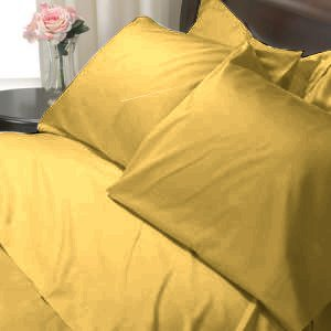 100%Egyptian Cotton Color  Gold 1200TC Queen Solid Sheet Set