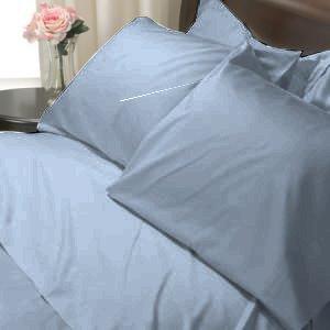 100%Egyptian Cotton Color  Rain 1200TC Queen Solid Sheet Set