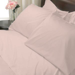 100%Egyptian Cotton Color  Rose 1200TC Queen Solid Sheet Set