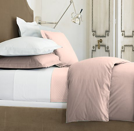 100 % Egyptian Cotton Color  Rose 600 TC King Size Solid Sheet Set.