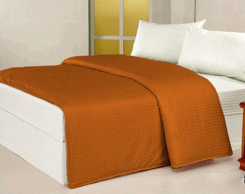 100 % Egyptian Cotton Color  Hezelnut 600 TC King Size Solid Sheet Set.