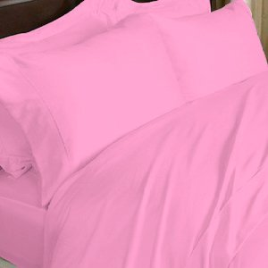 100%Egyptian Cotton Color Apricot 600 TC Queen Size Solid Sheet Set.