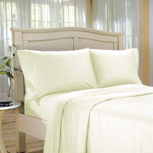 100%Egyptian Cotton Color  Cameo  1200 TC Twin Size Solid Sheet Set.