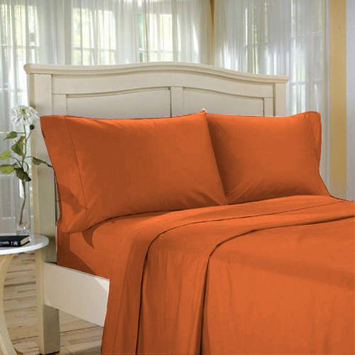 100%Egyptian Cotton Color  Hazelnut  1200 TC Twin Size Solid Sheet Set.
