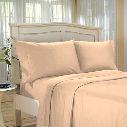 100%Egyptian Cotton Color  Shell  1500 TC Twin Size Solid Sheet Set.