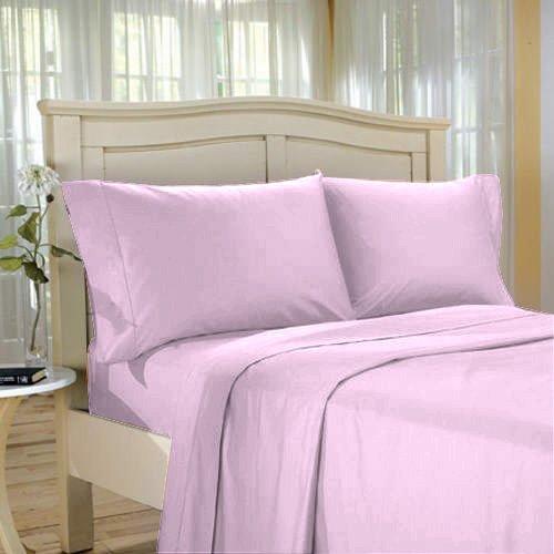 100%Egyptian Cotton Color  Petal  1500 TC Twin Size Solid Sheet Set.