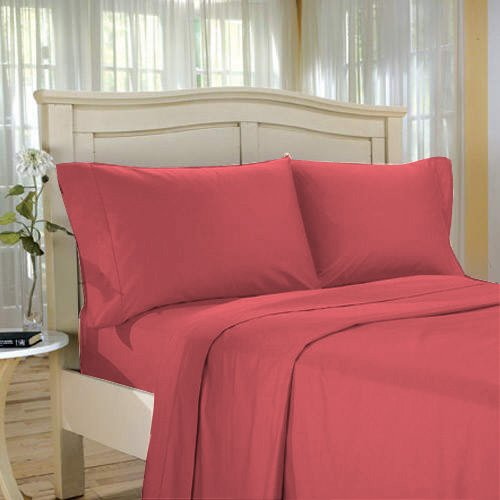 100%Egyptian Cotton Color  Burgundy  1500 TC Twin Size Solid Sheet Set.