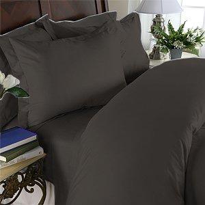 100% Egyptian Cotton, Color Black TC 1500 Size Queen Duvet Cover.