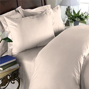 Duvet Cover With Pillow Sham Queen Solid 100% Egyptian Cotton, Color Taupe, TC 1000.
