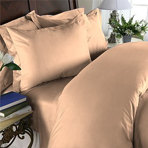 Duvet Cover With Pillow Sham Queen Solid 100% Egyptian Cotton, Color  Peach, TC 1000.
