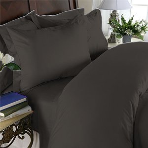 Duvet Cover With Pillow Sham Queen Solid 100% Egyptian Cotton, Color  Black, TC 1000.