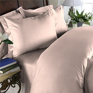 Duvet Cover With Pillow Sham Queen Solid 100% Egyptian Cotton, Color  Rose, TC 1000.