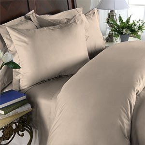 Duvet Cover With Pillow Sham Queen Solid 100% Egyptian Cotton, Color  Walnut, TC 800.