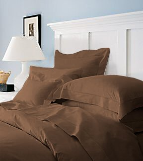 Duvet Cover With Pillow Sham Queen Solid 100% Egyptian Cotton, Color  Chocolate, TC 600.