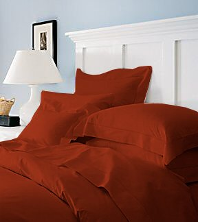 Duvet Cover With Pillow Sham Queen Solid 100% Egyptian Cotton, Color  Cardinal, TC 600.