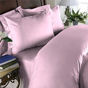 Duvet Cover With Pillow Sham Queen Solid 100% Egyptian Cotton, Color  Petal, TC 600.