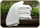 """100% Egyptian Cotto, Hand Towel, Color White, Size 16"""" x 27"""""""