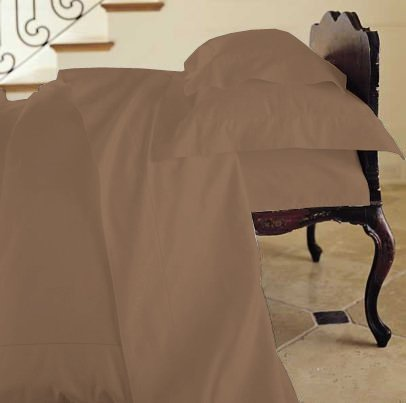 Duvet Cover Solid 100% Egyptian Cotto, Color Chocolate, TC- 600, Size Twin.