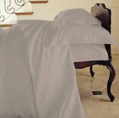 Duvet Cover Solid 100% Egyptian Cotto, Color Fog, TC- 600, Size Twin.