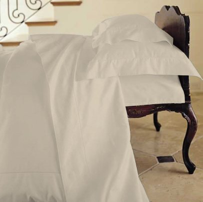 Duvet Cover Solid 100% Egyptian Cotto, Color Ivory, TC- 600, Size Twin.