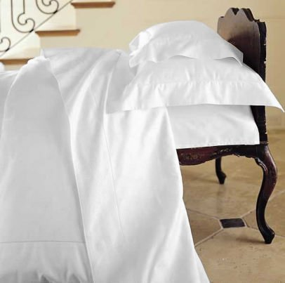 Duvet Cover Solid 100% Egyptian Cotto, Color White, TC- 600, Size Twin.
