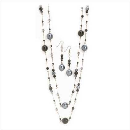 Black pearl Jewelry Set