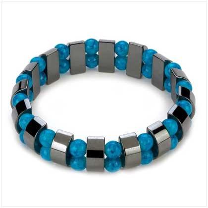Hematite Turquoise Pearl Bracelet