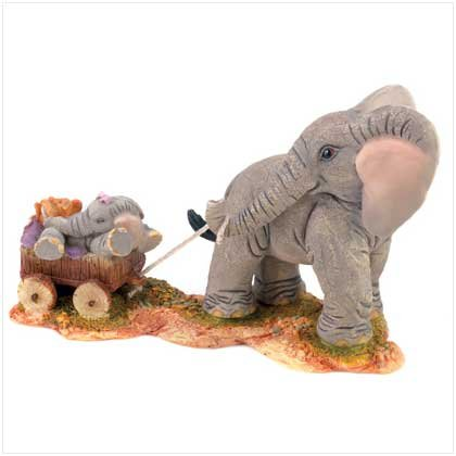 "TUSKERS ""Mommy and Me"" figurine"