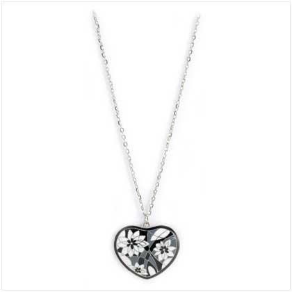 Cloisonne Heart Necklace