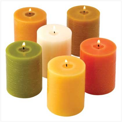 Earthtone Pillar Candles