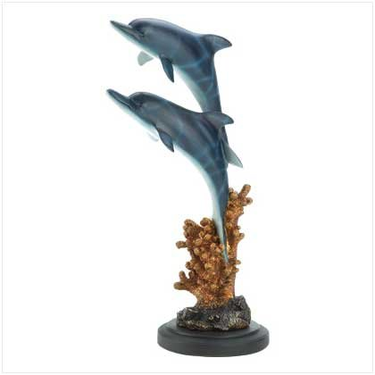 Leaping Dolphins Statue