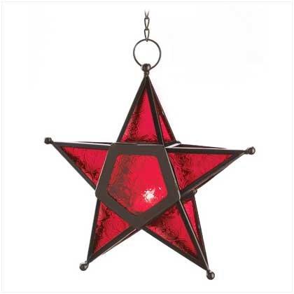 Red Glass Star Lantern