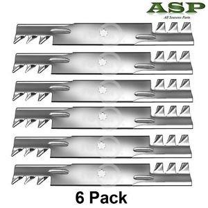 6 Mulching Blades fit D140, D140, D150, D150, GX21785