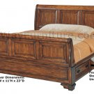 American Classic Oak Storage Sleigh Master Bedroom Furniture Set