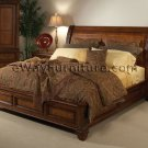 Vineyard Sleigh Storage Low Profile Bed Bedroom Set