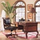 Vineyard 60in Burl Wood Home Office Writing Desk