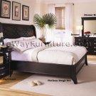 Black Platform Sleigh Bed Master Bedroom Set