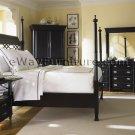 Black Poster Bed Master Bedroom Set