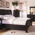 American Federal Black Sleigh Bed Bedroom Furniture Set