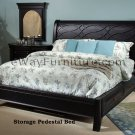 Black Storage Sleigh Master Bedroom Set