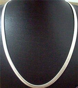 "6mm Herringbone sterling silver 20"" chain"