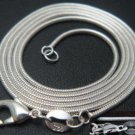 "1mm sterling silver 24"" snake chain"