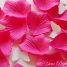1000 FUCHSIA HOT PINK SILK ROSE PETALS WEDDING DECORATION FLOWER FAVOR RP013