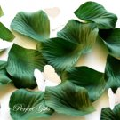 1000 HUNTER DARK GREEN SILK ROSE PETALS WEDDING DECORATION FLOWER FAVOR RP010