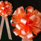 "10 ORANGE 8"" WEDDING PULL PEW BOWS FOR BRIDAL CAKE GIFT BASKET DECORCATION PB012"