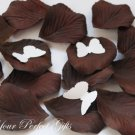 1000 DARK CHOCOLATE BROWN SILK ROSE PETALS WEDDING DECORATION FLOWER FAVOR RP005